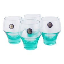 Vintage Sasaki Harmony Aqua Single Old Fashioned Glasses | The Hour Shop