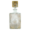 Vintage Gold Hobnail Decanter Front View | The Hour Shop