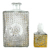 Vintage Gold Hobnail Decanter 2 Piece Front View | The Hour Shop