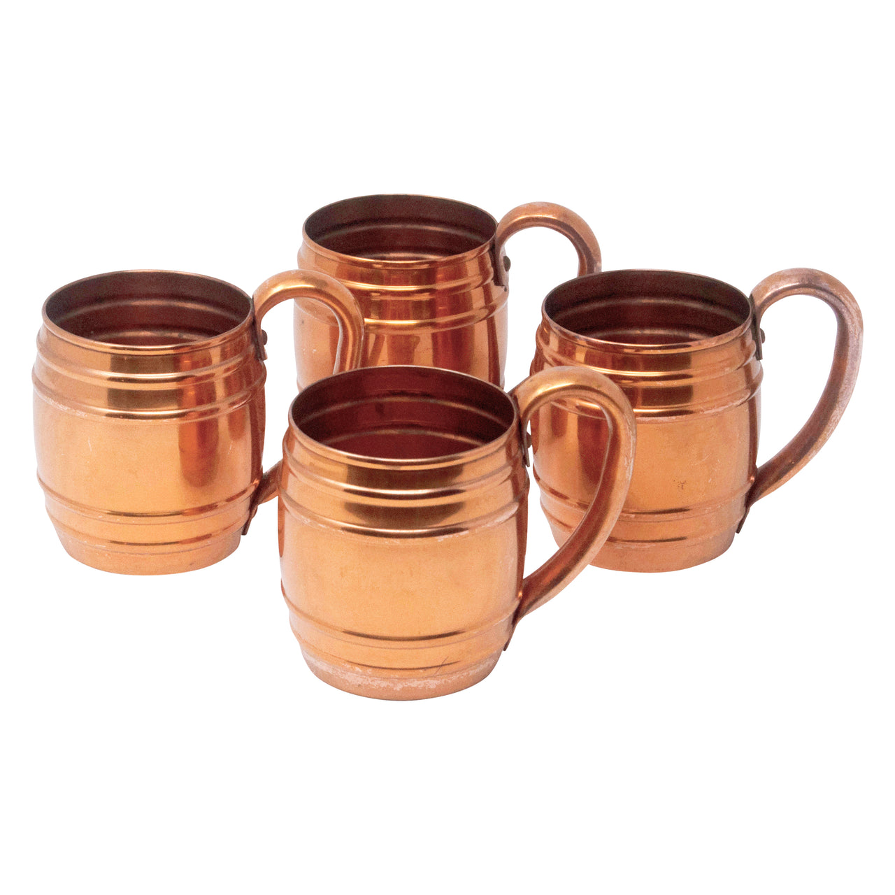 Vintage Barrel Style Solid Copper Mugs | The Hour Shop