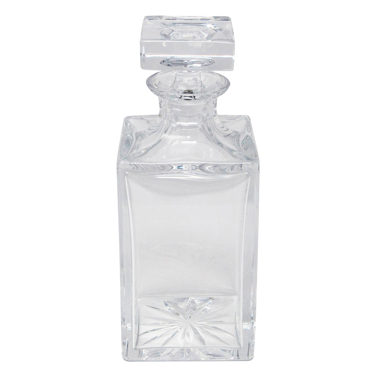 Vintage Crystal Cut Block Decanter | The Hour Shop
