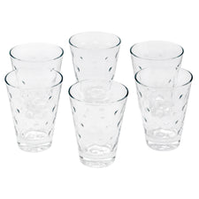 Hazel Atlas Clear Capri Dots Single Old Fashioned Glasses