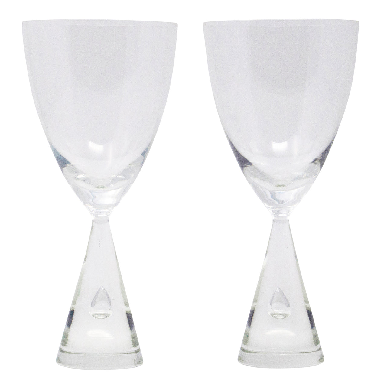 Vintage Holmegaard Princess Crystal Wine Glasses | The Hour Shop