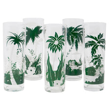 Vintage Libbey Tropical Palm Tree Zombie Glasses | The Hour