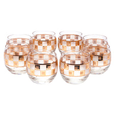 Gold & Frost Square Band Roly Poly Glasses