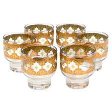 Vintage Culver Valencia Footed Rocks Glasses | The Hour