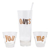 Vintage Gold You Me & Ours 4 Piece Cocktail Pitcher Set | The Hour
