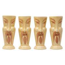 Vintage Orchids of Hawaii Fu Manchu Ceramic Tiki Mugs