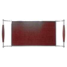 Vintage Brown Formica Sleigh Tray Top View | The Hour Shop