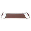 Vintage Brown Formica Sleigh Tray Side View | The Hour Shop