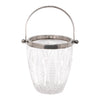 Vintage Cut Diamond Silver Plate Rim Ice Bucket Top View | The Hour Shop