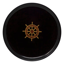 Vintage Couroc Ship's Wheel Round Tray | The Hour Shop