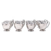 Vintage Crescent Silver Plate Punch Cups Front View | The Hour Shop
