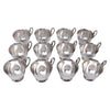 Vintage Crescent Silver Plate Punch Cups Top View | The Hour Shop