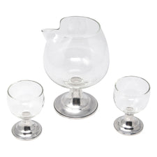 Vintage Alvin Sterling Base Cocktail Pitcher Set | The Hour