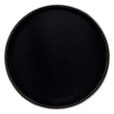 Vintage Black Formica Silver Plate Edge Tray | The Hour Shop