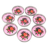 Vintage Pink Roses Silver Plate Rim Coasters | The Hour