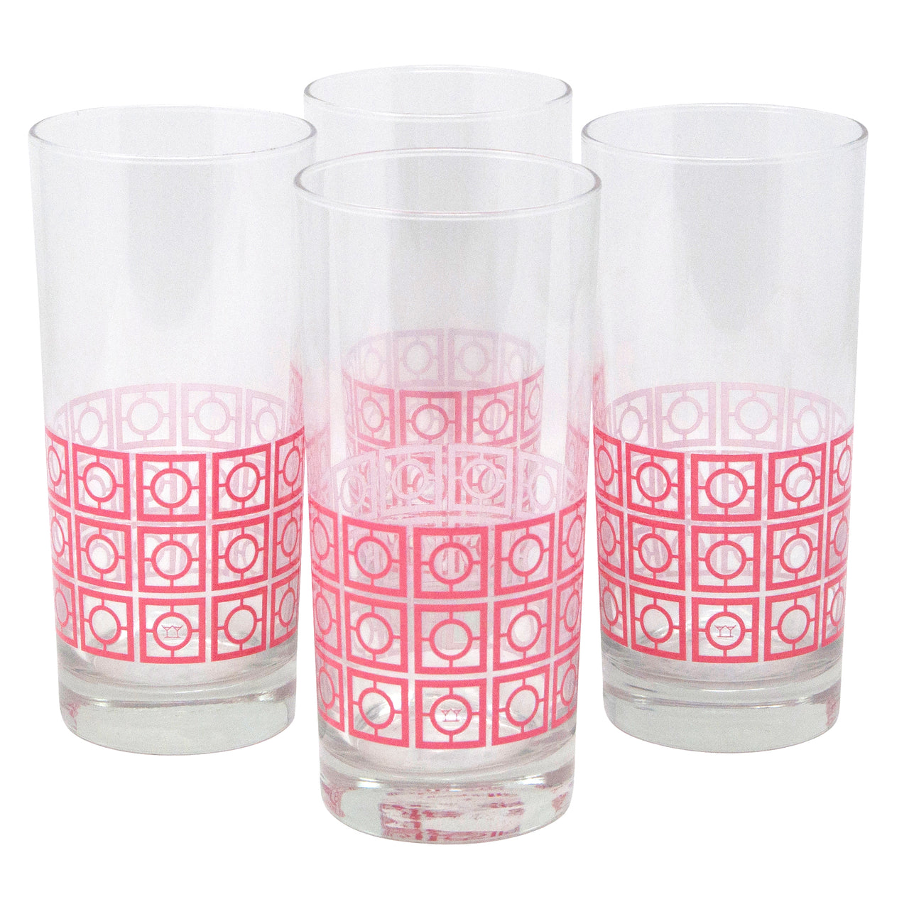 The Modern Home Bar Breezeway Coral Collins Glasses
