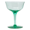 Teal Green Paneled Coupe Glasses