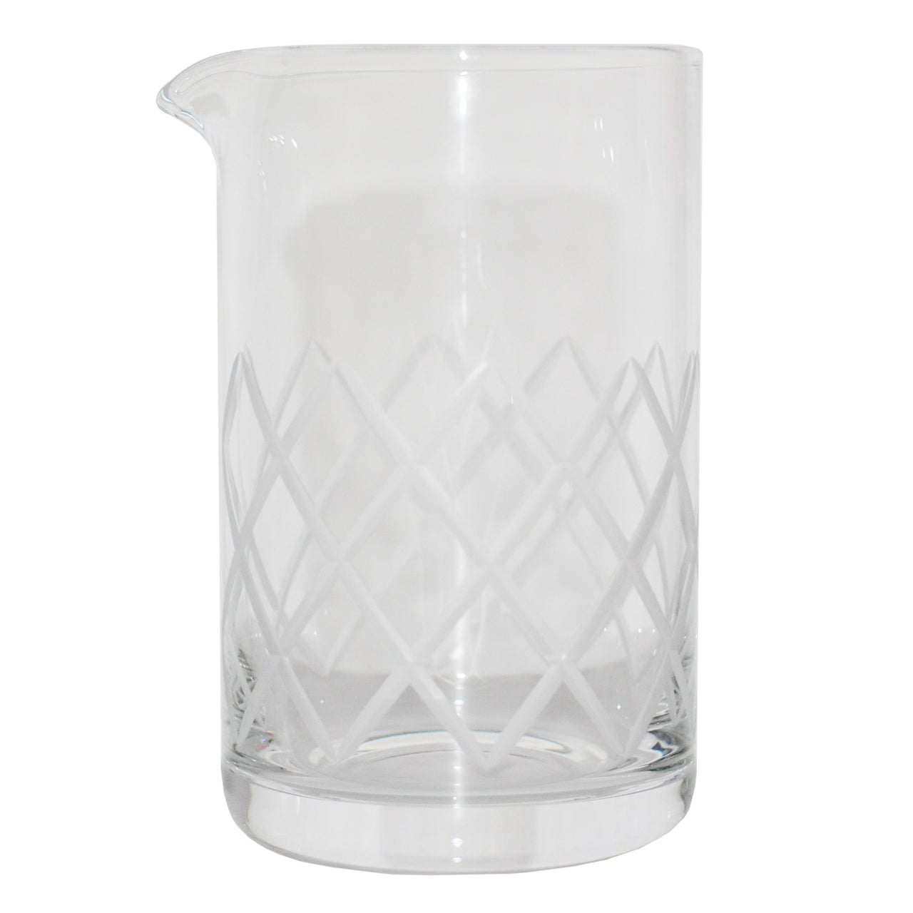 Rona Diamond Cut Crystal Mixing Glass | The Hour Barware