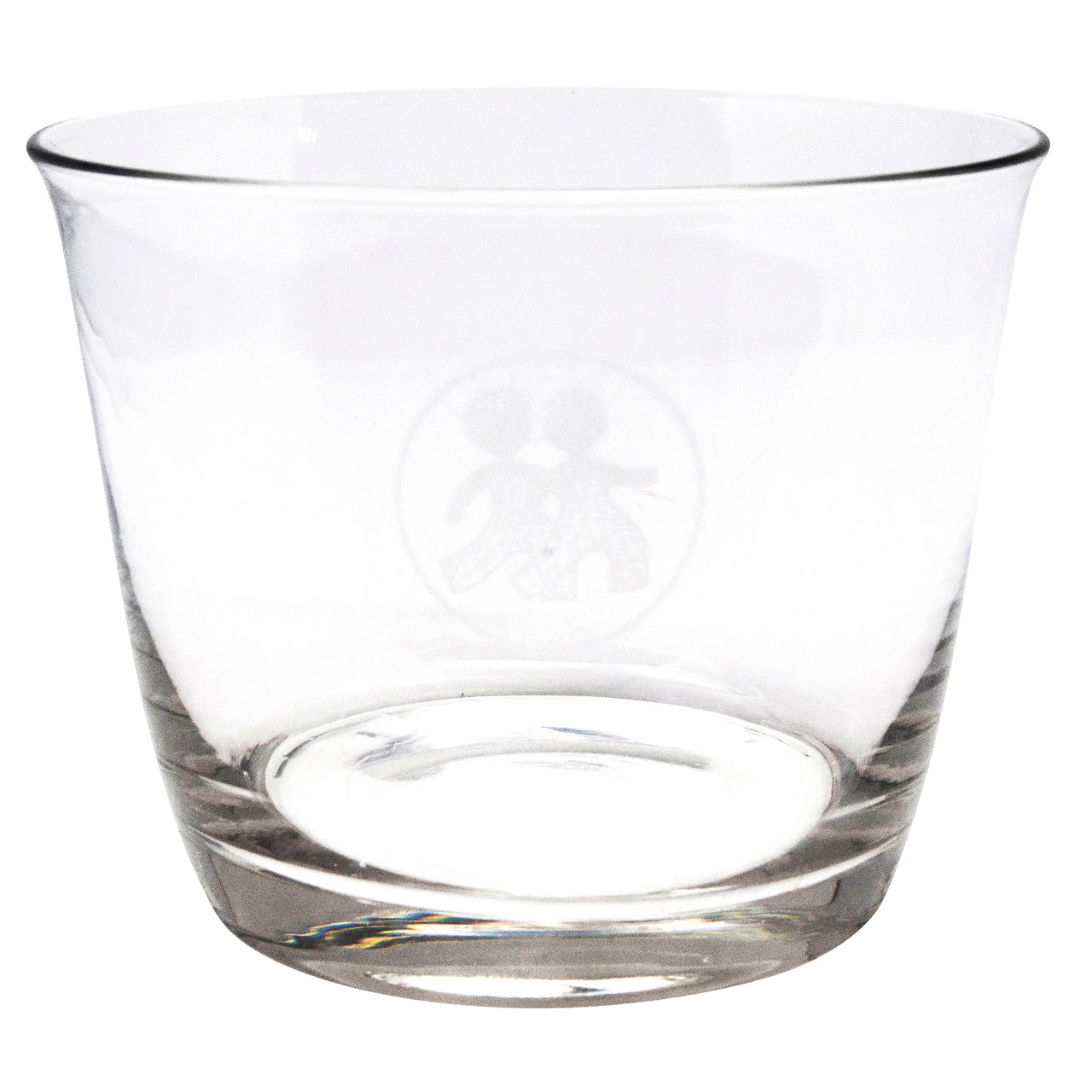 Etched Boys Clear Glass Ice Bucket