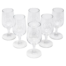 Vintage Etched Boys Cordial Glasses | The Hour Shop