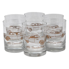 Vintage 1950s Classic Car Rocks Glasses | The Hour Shop