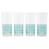 The Modern Home Bar Breezeway Teal Collins Glasses | The Hour Shop