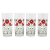 The Modern Home Bar Red Poppy Collins Glasses | The Hour Shop