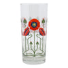 The Modern Home Bar Red Poppy Collins Glass | The Hour Shop