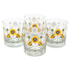 The Modern Home Bar Golden Poppy Rocks Glasses | The Hour Shop
