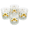 The Modern Home Bar Golden Poppy Rocks Glasses Top | The Hour Shop
