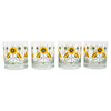 The Modern Home Bar Golden Poppy Rocks Glasses Pattern | The Hour Shop