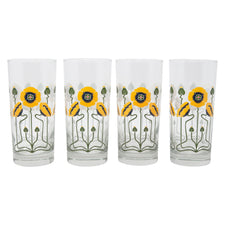 The Modern Home Bar Golden Poppy Collins Glasses | The Hour Shop