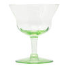 Green Flared Paneled Cocktail Glasses