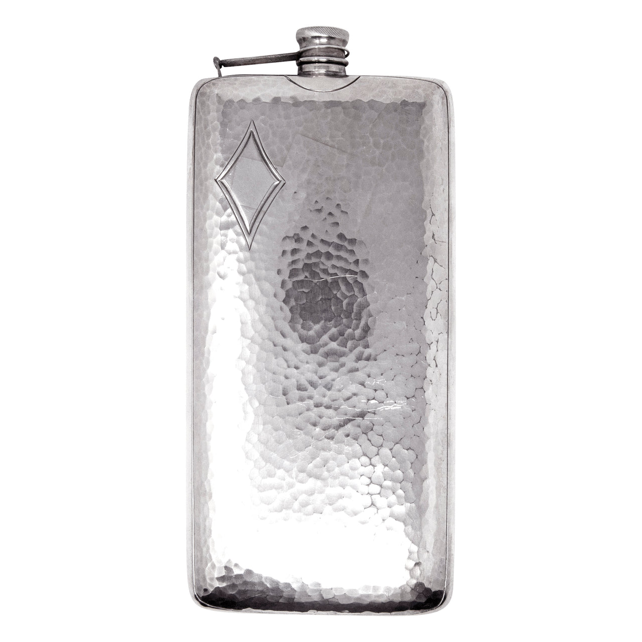 Vintage P.S. Co. Hammered Silver Plate Flask | The Hour