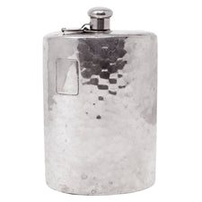 Hammered Chrome Plated German Hip Flask