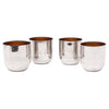 Vintage German 4 Chrome Nesting Shot Glasses | The Hour