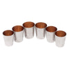 Vintage German Nesting Chrome Gold Interior Shot Glasses | The Hour