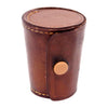 Vintage German Brown Leather Shot Glass Set | The Hour