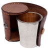 Vintage Leather Cased Nested Chrome German Shot Glass Set | The Hour