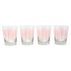 The Modern Home Bar Pick Me Orange and Pink Old Fashioned Glasses Pattern | The Hour Shop