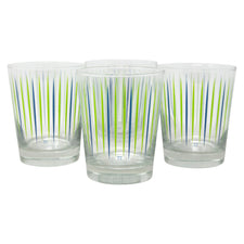 The Modern Home Bar Pick Me Blue and Green Old Fashioned Glasses Front | The Hour Shop