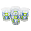 The Modern Home Bar Blue and Green Square Peg Old Fashioned Glasses |The Hour Shop