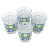 The Modern Home Bar Blue and Green Square Peg Old Fashioned Glasses Top |The Hour Shop