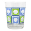 The Modern Home Bar Blue and Green Square Peg Old Fashioned Glass |The Hour Shop