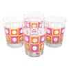 The Modern Home Bar Orange and Pink Square Peg Old Fashioned Glasses | The Hour Shop
