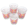 The Modern Home Bar Orange and Pink Square Peg Old Fashioned Glasses Top | The Hour Shop