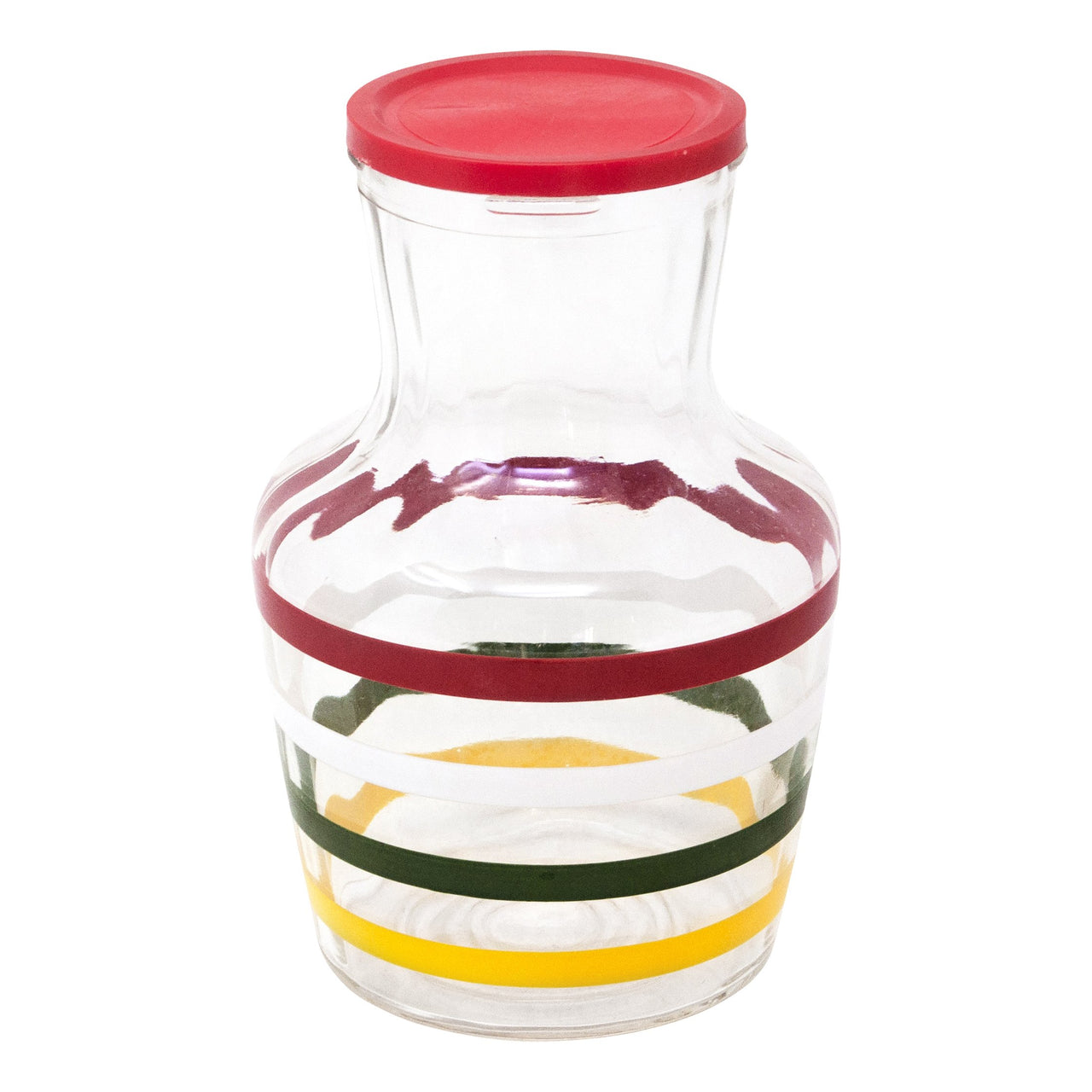Vintage Red Lid Striped Decanter | The Hour Shop