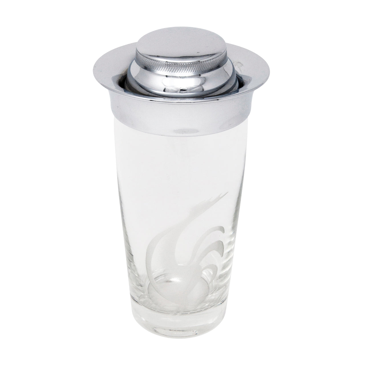 Vintage Frosted Rooster Cocktail Shaker Top | The Hour Shop